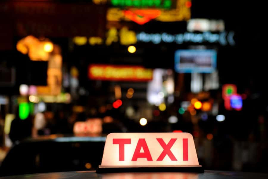 Taxi sign